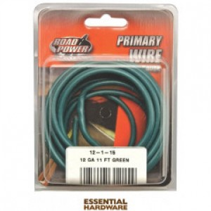 12-1-15 - PRIMARY WIRE GREEN 12 GA. X 11