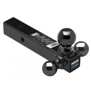 21512 - BLACK TRI-BALL TRAILER BALL **