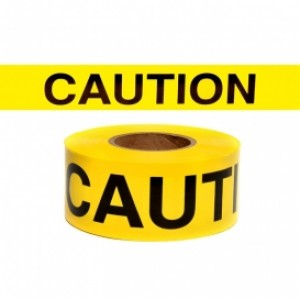 "TAPEC - 3"" X 300 FT CAUTION TAPE"