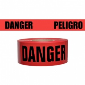 "76-0604 - 3""x500' REENFORCED RED DANGER"