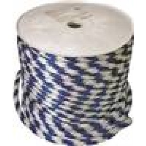 "DERBY5/8X200 - 5/8"" BLUE & WHITE DERBY ROPE"