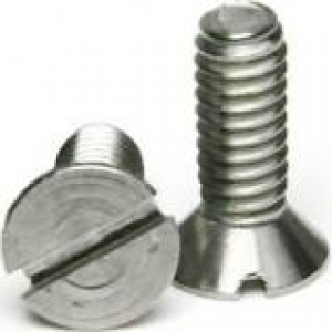 00400-0616-401 - 6-32 X 1 FLAT SLOT MACH SCREW