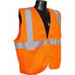 C16002F/M - ORANGE SAFETY VEST ZIPPER