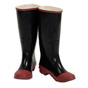 RB002-10 - BLACK RUBBER KNEE BOOT SIZE 10