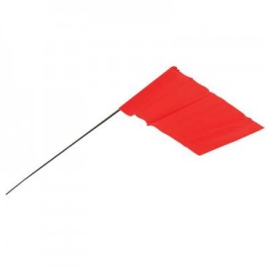 AT2034207 - GLO RED FLAG STAKE 100 PC