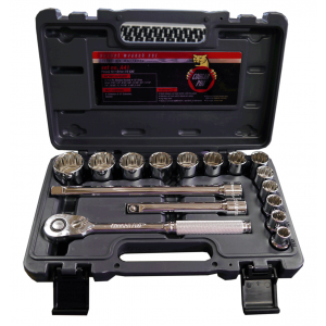 "CA41 - 16 PC 1/2"" DR. SAE SOCKET SET"