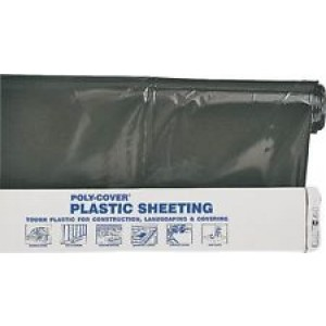 C101004BK - 10FT X 100FT 4ML BLACK PLASTIC