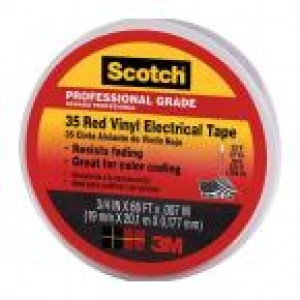 3M10810 - 3M 35 ELECTRICAL TAPE RED