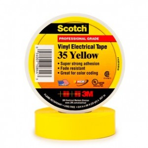 3M10844 - 3M 35 ELECTRICAL TAPE YELLOW